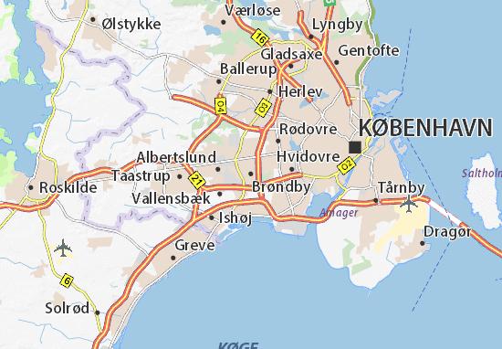 Kaart Plattegrond Brøndby