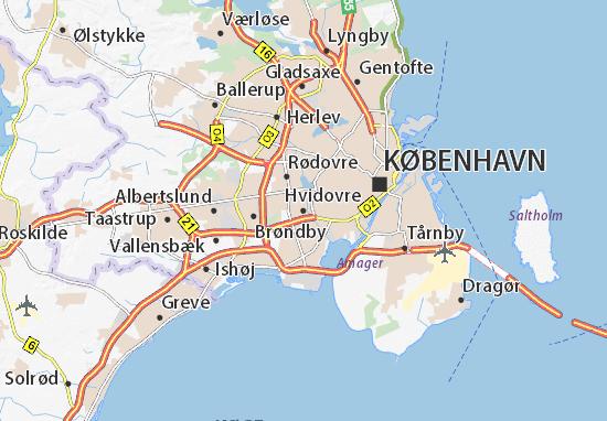 Mapas-Planos Hvidovre
