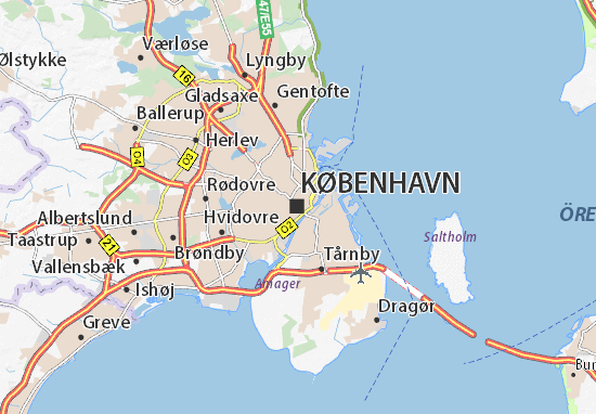 Map of Copenhagen Michelin Copenhagen map ViaMichelin – Tourist Map Of Copenhagen