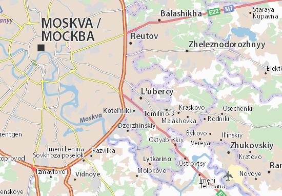 Kaart Plattegrond L'ubercy