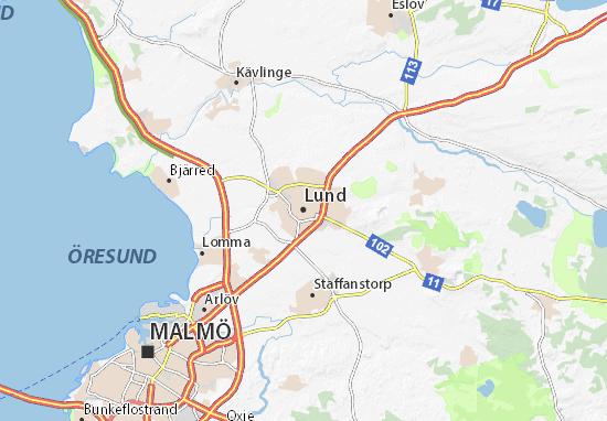 Kaart Plattegrond Lund