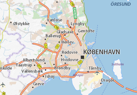 Mapa Plano Brønshøj