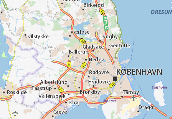 Carte-Plan Herlev
