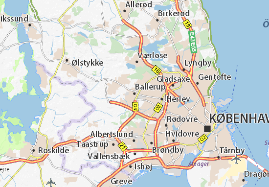 Mapa Plano Ballerup