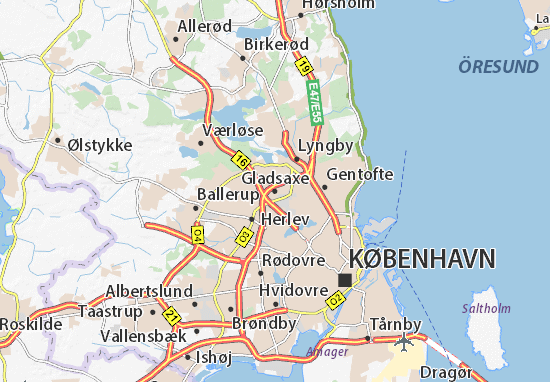 Gladsaxe Map
