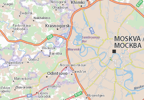 Detailed map of Moscow - Moscow map - ViaMichelin