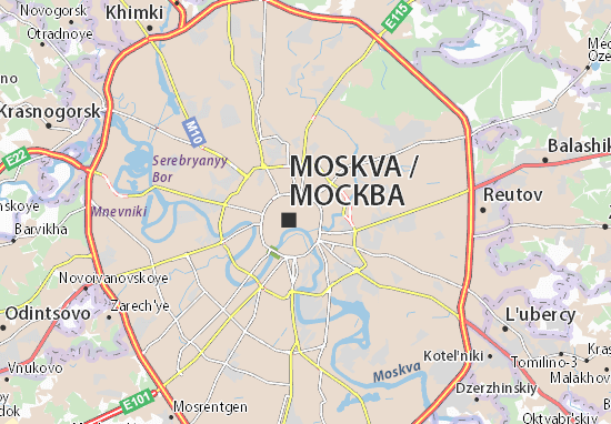 Moscow Map: Detailed maps for the city of Moscow - ViaMichelin