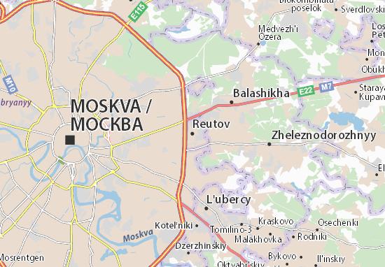 Reutov Map