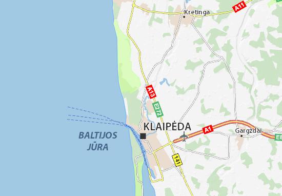 Map Of Klaipėda Michelin Klaipėda Map ViaMichelin - Klaipėda map
