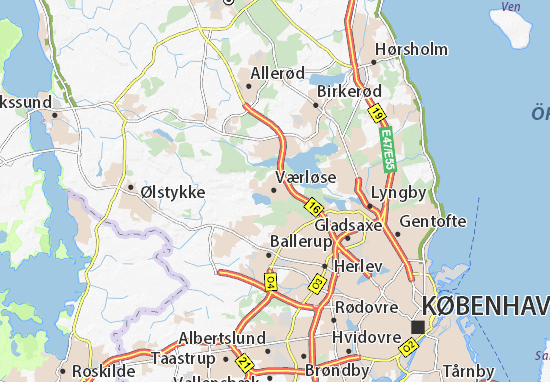 Værløse Map