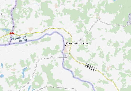 Vierchniadzvinsk Map