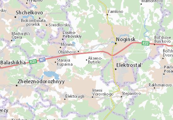 Akseno-Butyrki Map