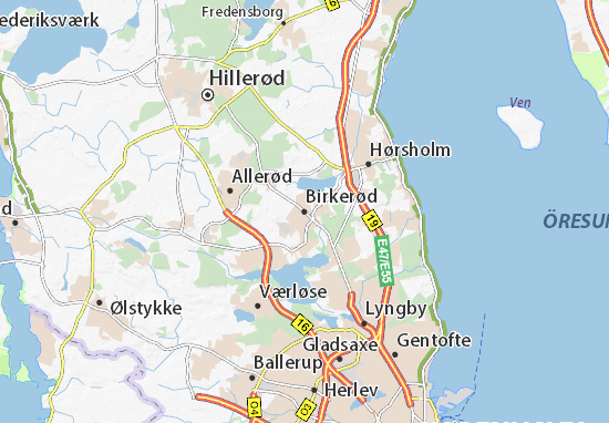 Birkerød Map: Detailed maps for the city of Birkerød - ViaMichelin