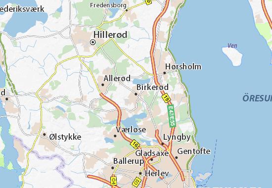 Birkerød Map