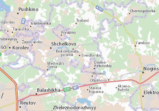 Carte-Plan Sverdlovskiy