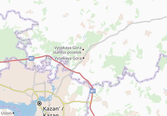 Carte-Plan Vysokaya Gora