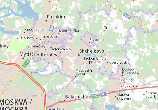 Mappe-Piantine Shchelkovo