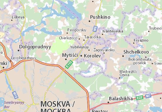 Mapa Plano Korolev