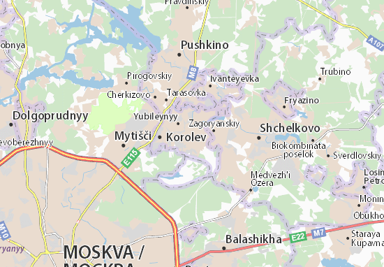 Kaart Plattegrond Korolev