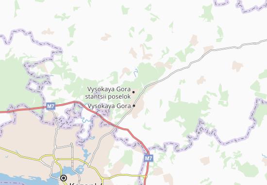 Vysokaya Gora stantsii poselok Map