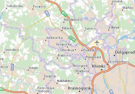 Kaart Plattegrond Firsanovka