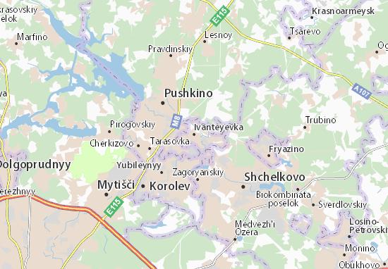 Carte-Plan Ivanteyevka