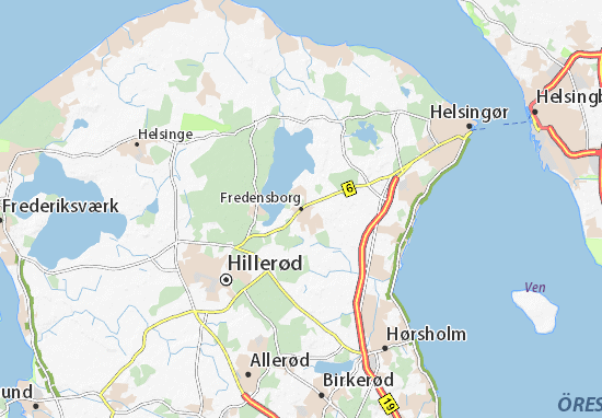 Mapa Plano Fredensborg