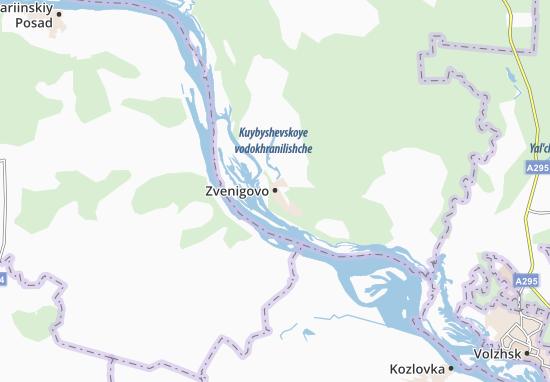 Kaart Plattegrond Zvenigovo