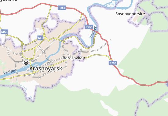 Kaart Plattegrond Berezovka
