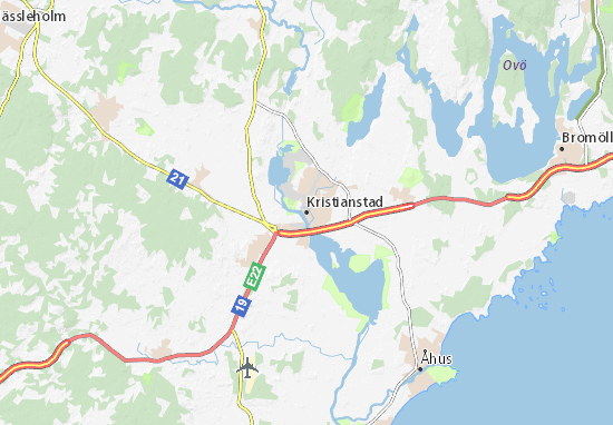 Kaart Plattegrond Kristianstad