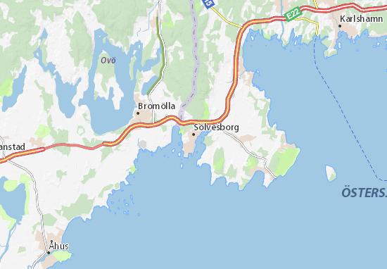 Mapa Plano Sölvesborg