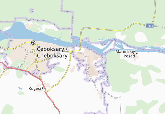 Novocheboksarsk Map