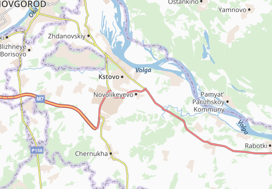 Kaart Plattegrond Novolikeyevo