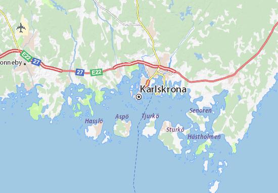 Carte-Plan Karlskrona
