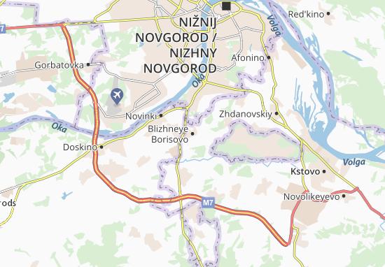 Carte-Plan Blizhneye Borisovo