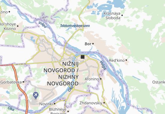 Kaart Plattegrond Nižnij Novgorod