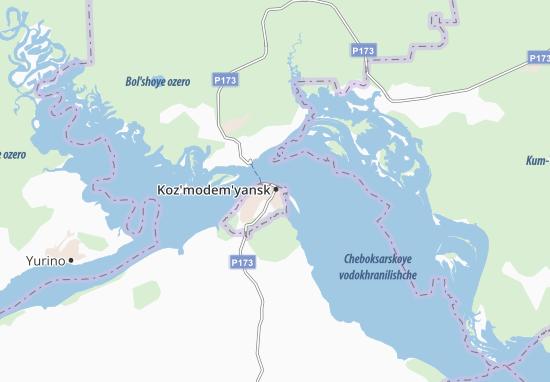 Kaart Plattegrond Koz'modem'yansk