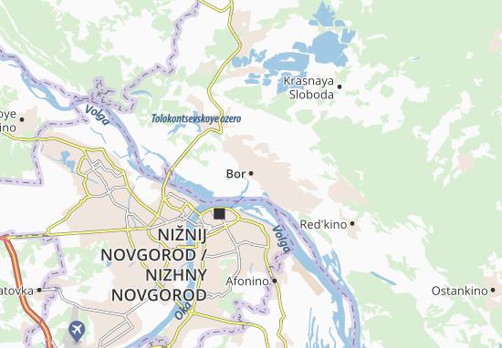 Kaart Plattegrond Bor