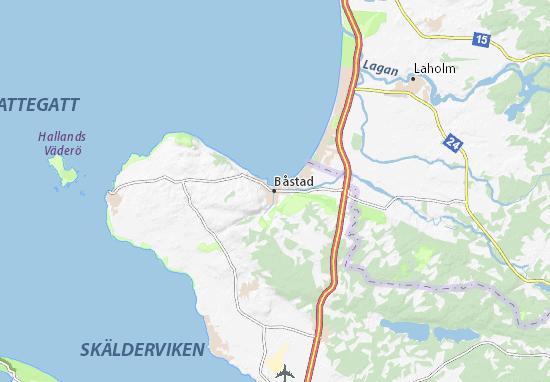 Kaart Plattegrond Båstad