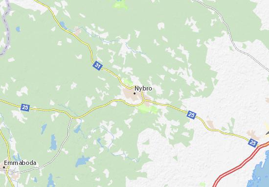 Nybro Map