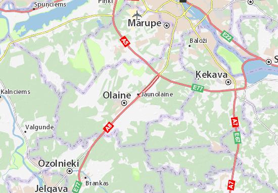 Jaunolaine Map