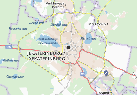 Map Of Yekaterinburg Michelin Yekaterinburg Map Viamichelin