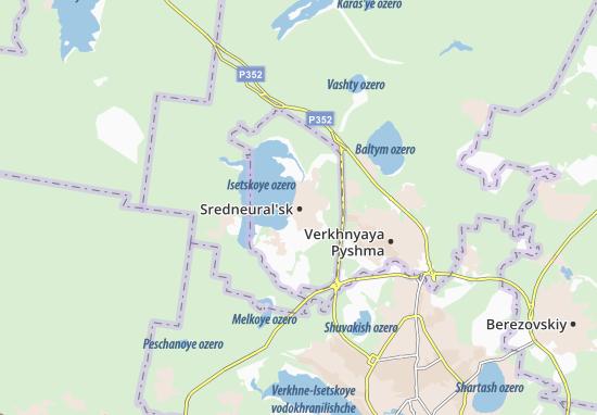 Sredneural'sk Map