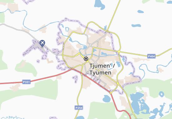 Tjumen' Map