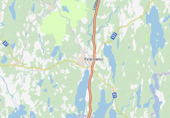 Kaart Plattegrond Värnamo