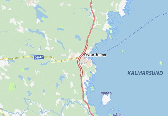 Kaart Plattegrond Oskarshamn