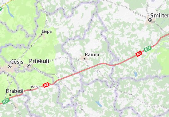 Carte-Plan Rauna