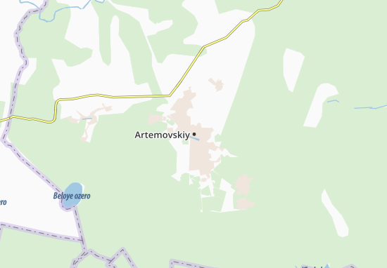 Carte-Plan Artemovskiy