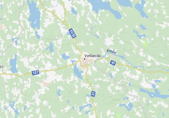 Vetlanda Map