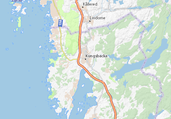 Kaart Plattegrond Kungsbacka